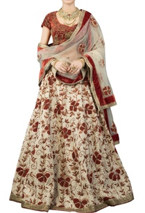 cream-lehenga-set-with-red-blouse