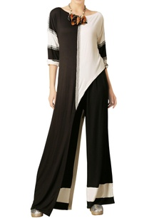 black-white-color-block-tunic