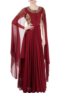 maroon-embroidered-gown
