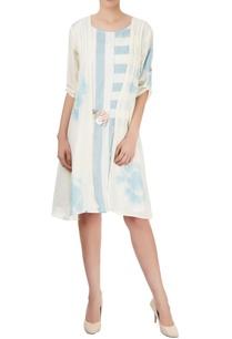 blue-white-stripedd-dress-with-jacket