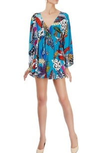 blue-printed-kaftan-top