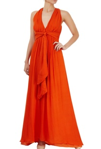 orange-gown-with-criss-cross-back
