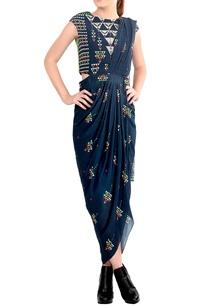 blue-draped-sari