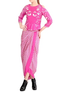 candy-pink-printed-draped-sari