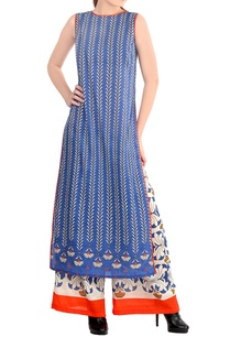 blue-white-kurta-set