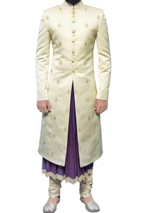 off-white-sherwani-with-zari-butis