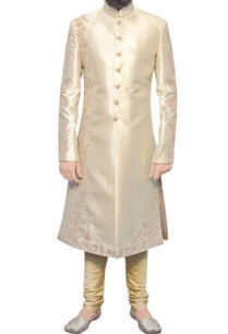gold-sherwani-with-embroidery