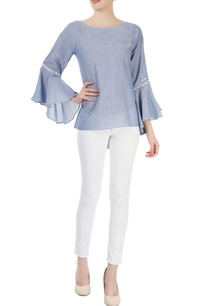 blue-top-with-flounce-sleeves