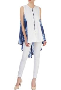 white-blue-tunic-with-asymmetric-hem