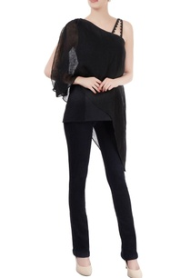 black-layered-tunic-with-asymmetrical-hem