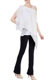 white-layered-tunic-with-asymmetrical-hem