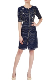 navy-blue-embellished-dress
