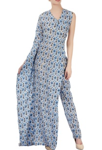 grey-one-sleeved-jumpsuit-with-blue-print