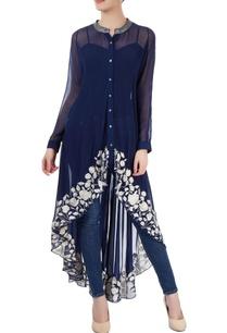 navy-blue-embroidered-kurti