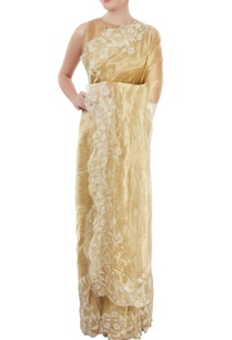 gold-floral-embroidered-sari
