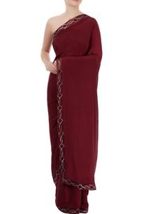wine-border-embellished-sari