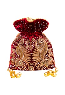 maroon-embroidered-potli