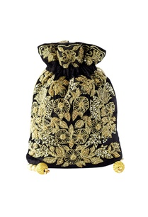 black-gold-floral-embroidered-potli
