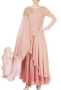 pink-asymmetrical-draped-maxi