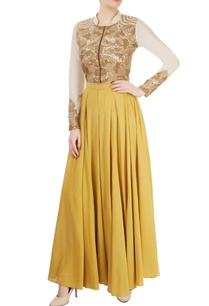 ivory-ochre-pleated-pant-set-with-embroidery