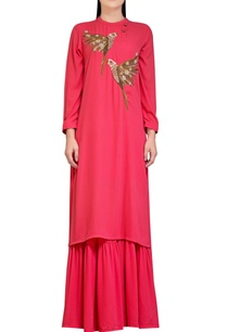 coral-pink-sharara-set-with-embroidery