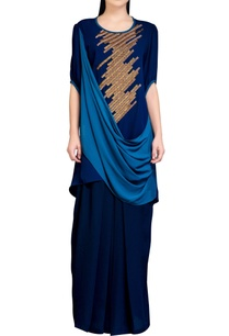 navy-blue-cowl-dress