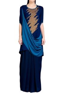 navy-blue-cowl-dress