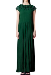 forest-green-dress-with-embroidery