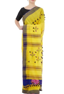yellow-handwoven-sari