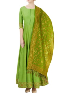 green-embroidered-anarkali-set