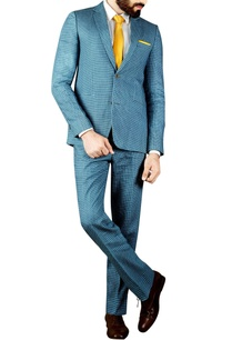 grey-blue-block-printed-suit