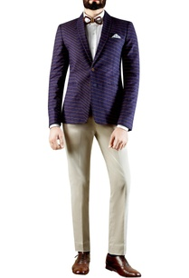navy-blue-distorted-checkered-print-blazer