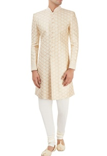beige-printed-sherwani-set-with-embroidery