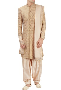 gold-motif-pattern-sherwani-set