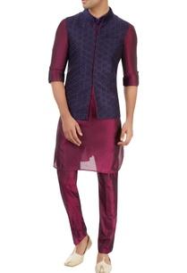 purple-kurta-set-with-embroidered-nehru-jacket