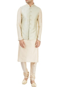 off-white-pastel-green-embroidered-kurta-set
