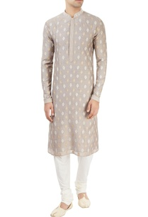 light-grey-embroidered-kurta