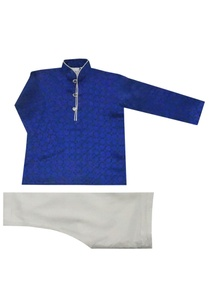 royal-blue-silk-kurta-set