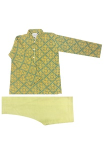 mint-green-saffron-printed-kurta-churidar