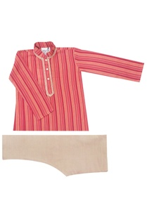 coral-striped-kurta-set