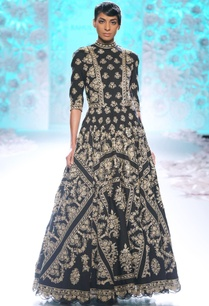 black-gown-with-gold-embroidery