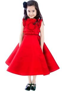 red-circular-dress