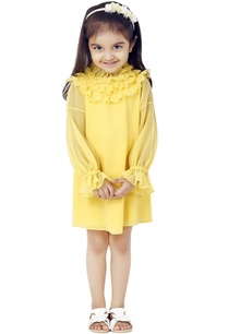 yellow-frilly-dress