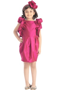 fuschia-frilly-dress