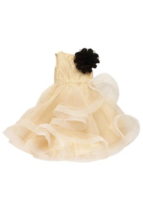 peach-black-corsage-dress