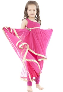 fuschia-draped-anarkali-set