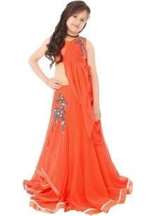 orange-lehenga-gown-with-bead-embroidery