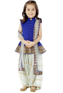 blue-white-peplum-kurta-set-with-gota-work
