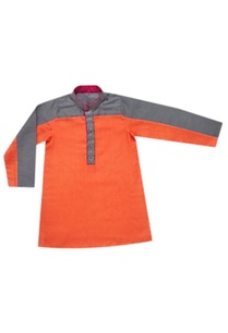 orange-griffin-color-blocked-kurta