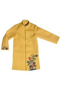 yellow-embroidered-kurta